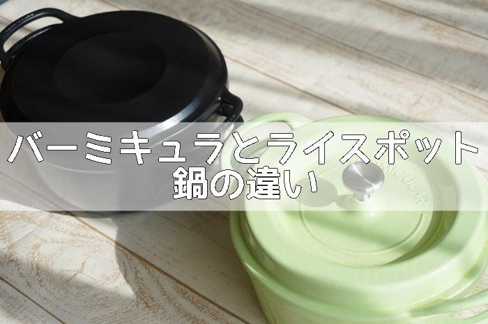 バーミキュラ単体のお鍋とライスポットの鍋の違い