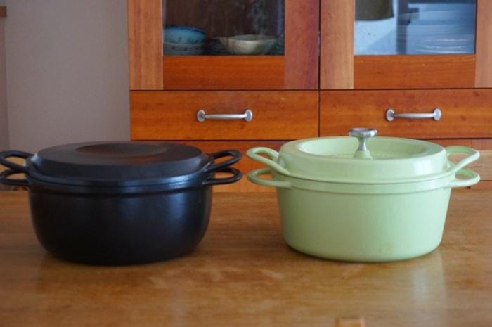 バーミキュラライスポットとバーミキュラの単体のお鍋。