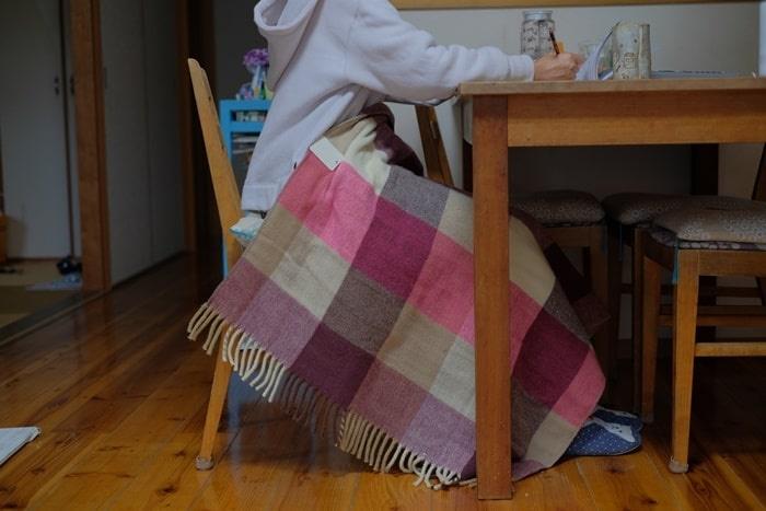 電気ひざかけ毛布の使い方