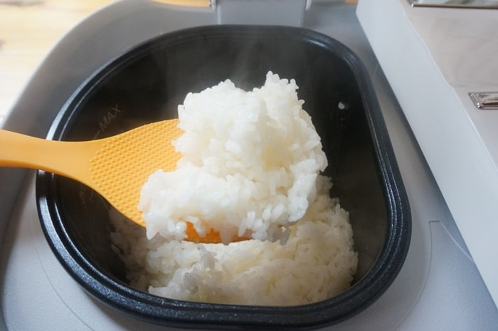 ツインシェフで炊いたお米