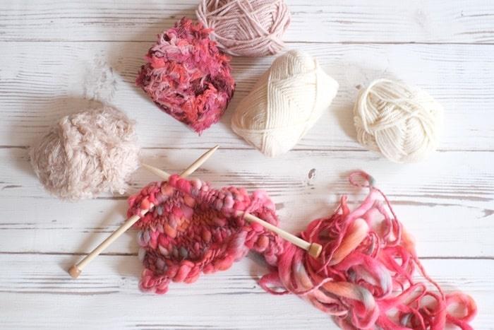 フェリシモの編み物キット パッチワーク風編み物の会