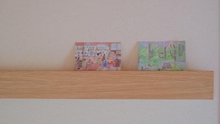 壁に付けられる家具 + そのまま飾る収納