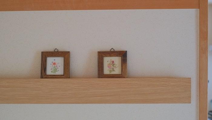 壁に付けられる家具 + フレーム
