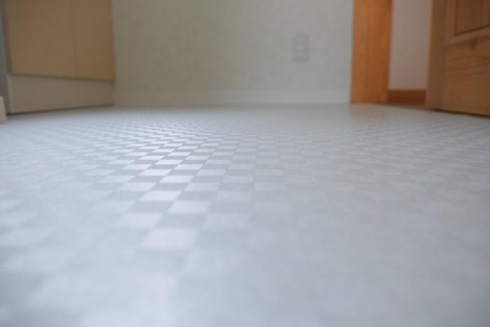 洗面所のリフォーム アフター床材新調