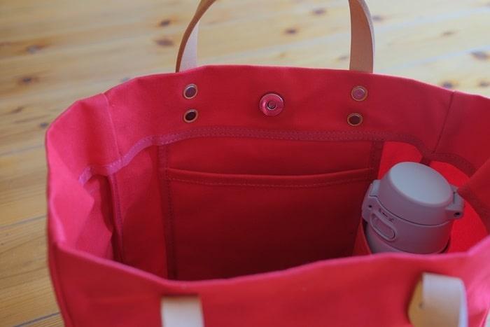 カワニシカバン 帆布トートのポケット
