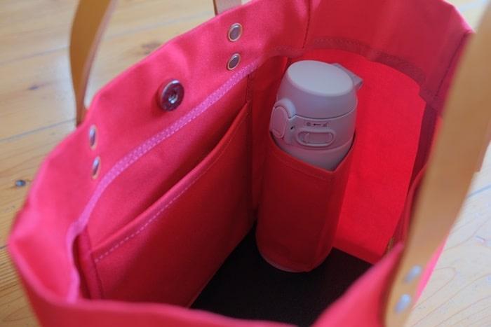 カワニシカバンのペットボトルポケット